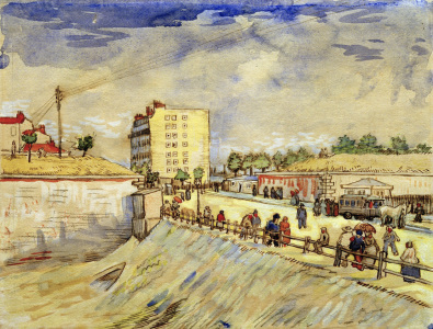 Picture no: 30003510 V.van Gogh, Gate in Paris Ramp/Watercol. Created by: van Gogh, Vincent