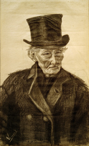 Picture no: 30003524 V.van Gogh, Old Man w.Top Hat / Draw. Created by: van Gogh, Vincent