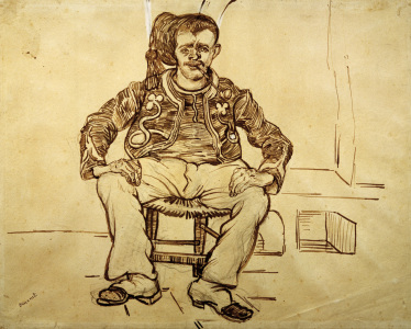 Picture no: 30003528 V.van Gogh, Zouave Sitting /Draw./ 1888 Created by: van Gogh, Vincent