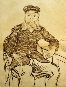 Picture no: 30003530 V.van Gogh, Postman Joseph Roulin/Draw. Created by: van Gogh, Vincent
