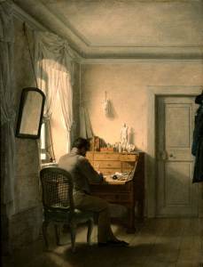 Picture no: 30003572 G.F.Kersting, Man at his desk Created by: Kersting, Georg Friedrich