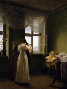Picture no: 30003586 Kersting / In front of the Mirror / 1827 Created by: Kersting, Georg Friedrich