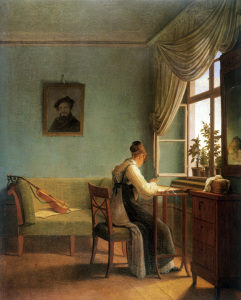 Picture no: 30003588 Kersting / The Embroiderer / 1827 Created by: Kersting, Georg Friedrich
