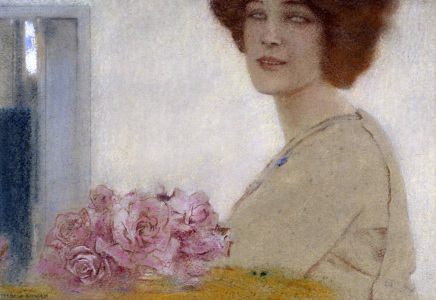 Picture no: 30003608 Fernand Khnopff / Roses. Created by: Khnopff, Fernand