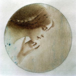 Picture no: 30003612 Debussy, Mélisande / Zng.v.F.Khnopff Created by: Khnopff, Fernand