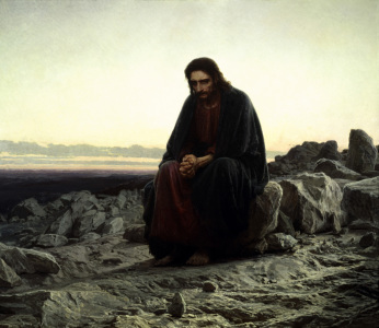 Picture no: 30003640 Christ in the Wilderness/ Kramskoi/ 1872 Created by: Kramskoi, Iwan Nikolajewitsch