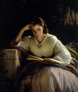 Picture no: 30003682 I.N.Kramskoy / Reading / Paint./ C19th Created by: Kramskoi, Iwan Nikolajewitsch
