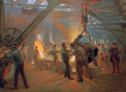 Picture no: 30003702 P.S.Kröyer /At the Foundry/ Paint./ 1885 Created by: Kroyer, Peter Severin