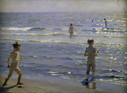 Picture no: 30003706 P.S.Kroeyer, Boys bathing. Created by: Kroyer, Peter Severin