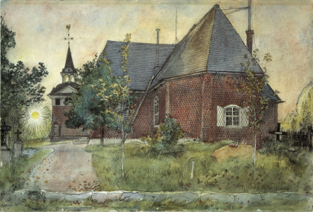 Picture no: 30003766 Larsson / The Old Church at Sundborn Created by: Larsson, Carl