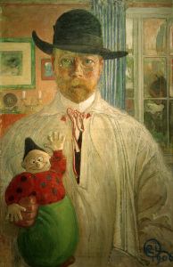 Picture no: 30003774 Carl Larsson, Self examination / 1906 Created by: Larsson, Carl