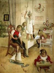 Picture no: 30003788 C.Larsson, Christmas morning / 1894 Created by: Larsson, Carl