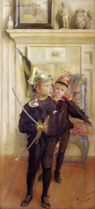 Picture no: 30003796 Carl Larsson / Ulf and Pontus Created by: Larsson, Carl