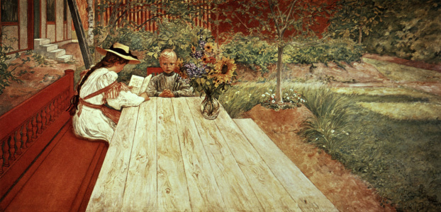 Picture no: 30003804 Carl Larsson / The First Lesson / 1903 Created by: Larsson, Carl