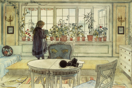 Picture no: 30003896 Larsson / The Flowers at the Window Created by: Larsson, Carl