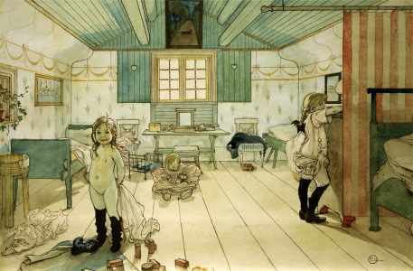Picture no: 30003908 C.Larsson, Mummy's bedroom... / 1897 Created by: Larsson, Carl