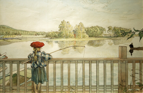Picture no: 30003910 C.Larsson, Lisbeth fishing / 1898 Created by: Larsson, Carl