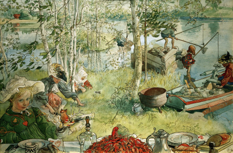 Picture no: 30003916 C.Larsson, Catching crabs / 1897 Created by: Larsson, Carl