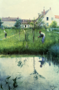 Picture no: 30003922 Carl Larsson, Pruning the trees Created by: Larsson, Carl
