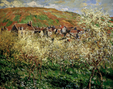 Picture no: 30003928 Monet / Blossoming plum trees / 1879 Created by: Monet, Claude