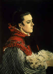 Picture no: 30003936 Claude Monet / Camille with dog / 1866 Created by: Monet, Claude