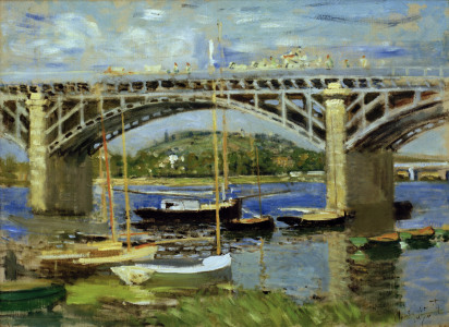 Picture no: 30003998 Monet/Bridge over Seine, Argenteuil/1874 Created by: Monet, Claude