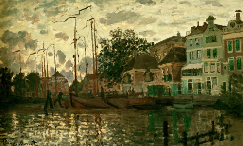 Picture no: 30004004 Monet/The dam i.Zaandam i.t.evening/1871 Created by: Monet, Claude