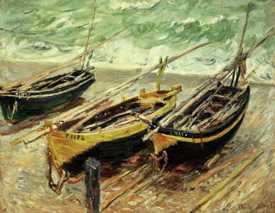 Picture no: 30004030 Monet / Three fishing boats / 1885 Created by: Monet, Claude