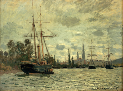 Picture no: 30004040 Monet / The Seine near Rouen / 1873 Created by: Monet, Claude