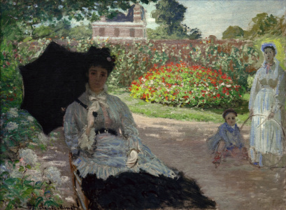 Picture no: 30004046 C.Monet, Camille with Jean and nanny Created by: Monet, Claude