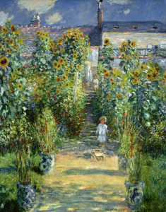 Picture no: 30004050 Claude Monet, Monets garden.../ painting Created by: Monet, Claude