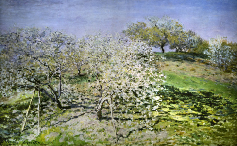 Picture no: 30004056 C.Monet, Spring, flowering apple trees. Created by: Monet, Claude