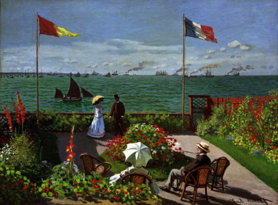 Picture no: 30004064 Claude Monet, garden in Sainte-Adresse Created by: Monet, Claude