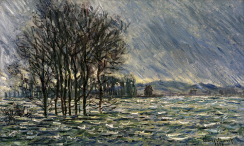 Picture no: 30004070 C.Monet, Hochwasser, 1881 Created by: Monet, Claude
