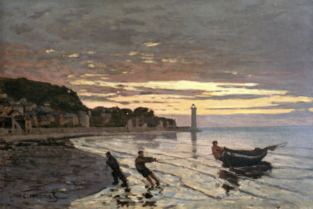 Picture no: 30004176 Monet / Hauling in of a boat / 1864 Created by: Monet, Claude