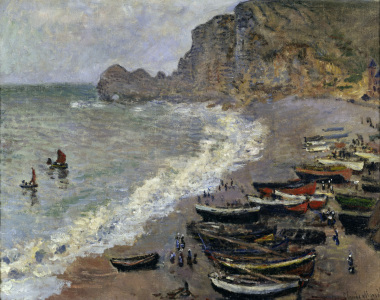 Picture no: 30004190 Claude Monet/ Etretat, plage et porte... Created by: Monet, Claude
