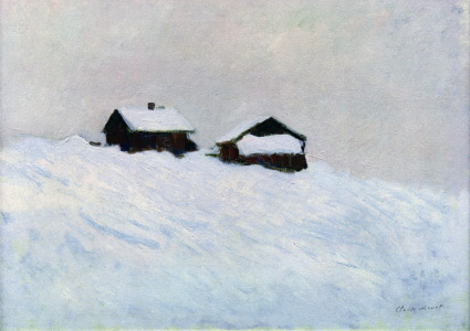 Picture no: 30004212 C.Monet, Häuser im Schnee in Norwegen Created by: Monet, Claude