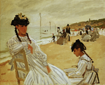 Picture no: 30004222 Monet / On the beach in Trouville / 1870 Created by: Monet, Claude