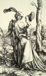 Picture no: 30004324 A.Dürer / Nobleman and lady.. / c.1496 Created by: Dürer, Albrecht