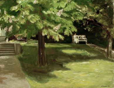 Picture no: 30004418 M.Liebermann, Garden bench... / painting Created by: Liebermann, Max