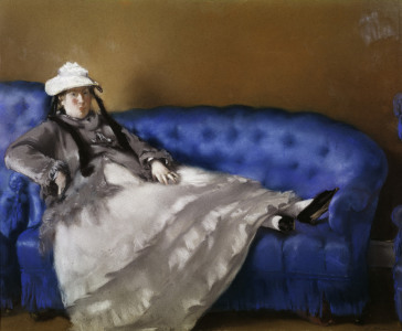 Picture no: 30004440 E.Manet, Madame Manet auf blauem Sofa Created by: Manet, Edouard