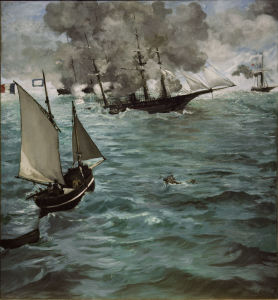 Picture no: 30004446 Manet / Battle of Kearsarge and Alabama Created by: Manet, Edouard