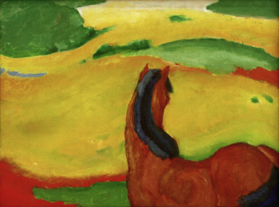 Picture no: 30004462 Marc / Horse in a landscape / 1910 Created by: Marc, Franz