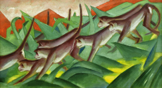 Picture no: 30004464 Franz Marc, Graphic monkey frieze Created by: Marc, Franz
