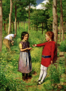 Picture no: 30004482 C.Patmore,The Woodman's Daughter/Millais Created by: Millais, Sir John Everett
