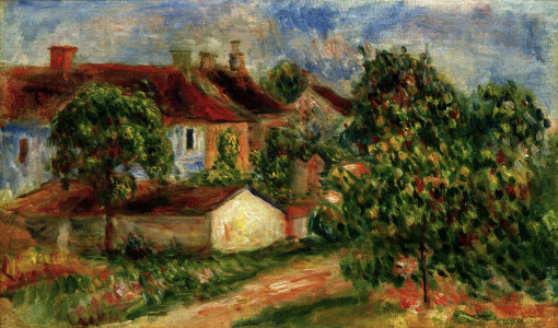 Picture no: 30004502 A.Renoir, Maisons de village Created by: Renoir, Pierre-Auguste