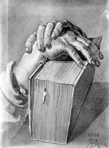 Picture no: 30004518 A.Dürer, Study of Hands with Book /1506 Created by: Dürer, Albrecht