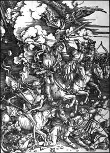 Picture no: 30004534 Horsemen of th.Apocalypse /Duerer/c.1497 Created by: Dürer, Albrecht