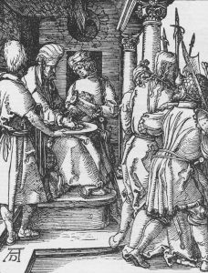 Picture no: 30004556 Pilate washes his hands / Dürer / c1509 Created by: Dürer, Albrecht