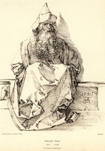 Picture no: 30004558 A.Dürer, Seated Bearded Man / Draw. Created by: Dürer, Albrecht
